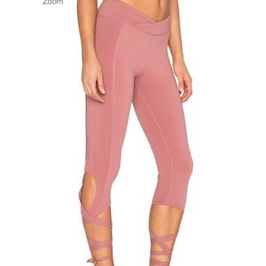 Free People Movement Turnout Yoga Capris Pink L